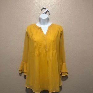 Charter Club- yellow blouse